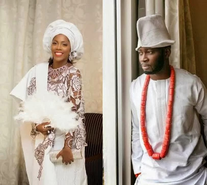 Tiwa and Teebillz on their wedding day