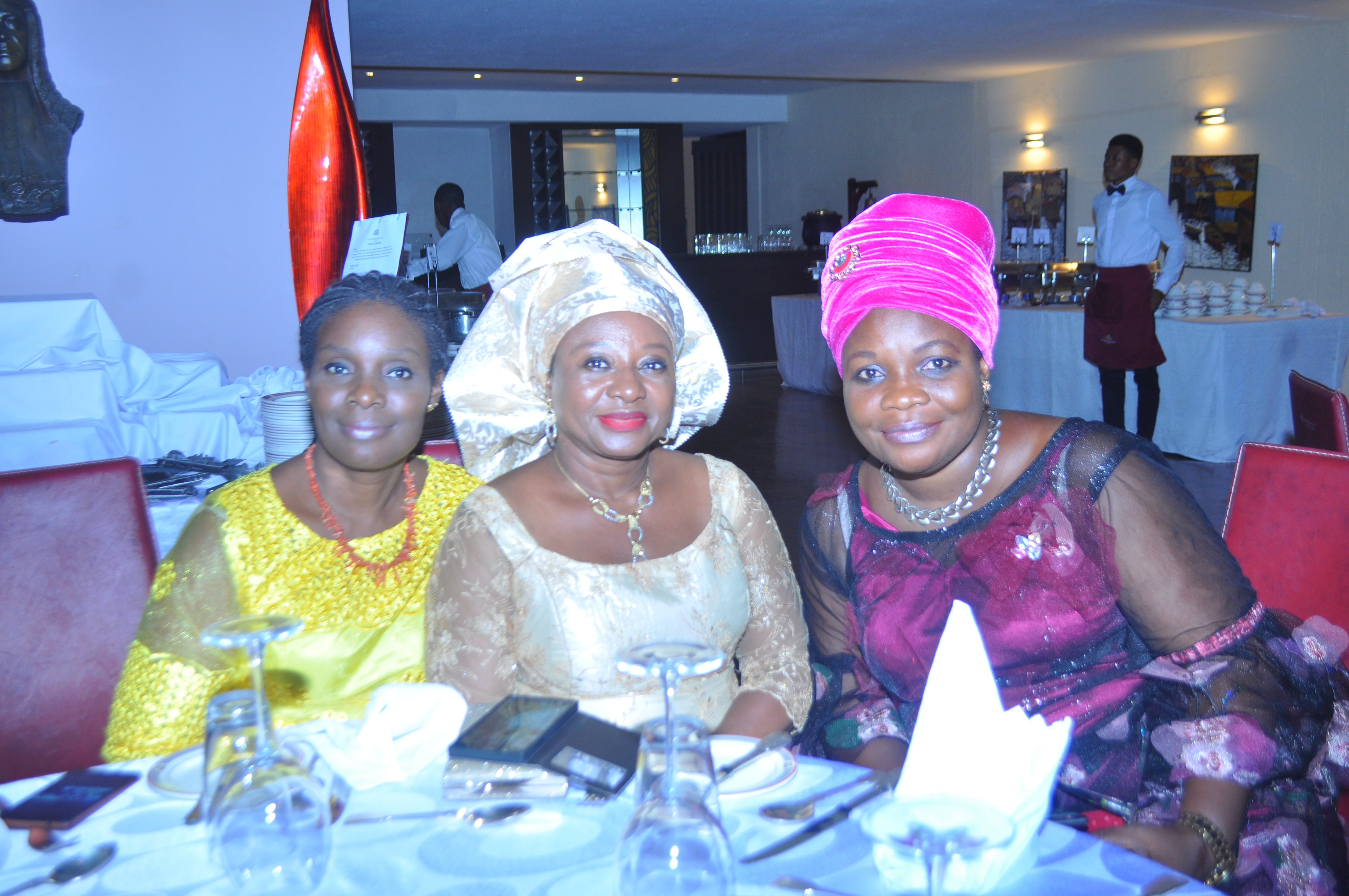 Some wivies of Ecobites at the event. L-R Mrs Odiase, Mrs Mina Ize-Iyamu and Mrs Funlola Igbinidu