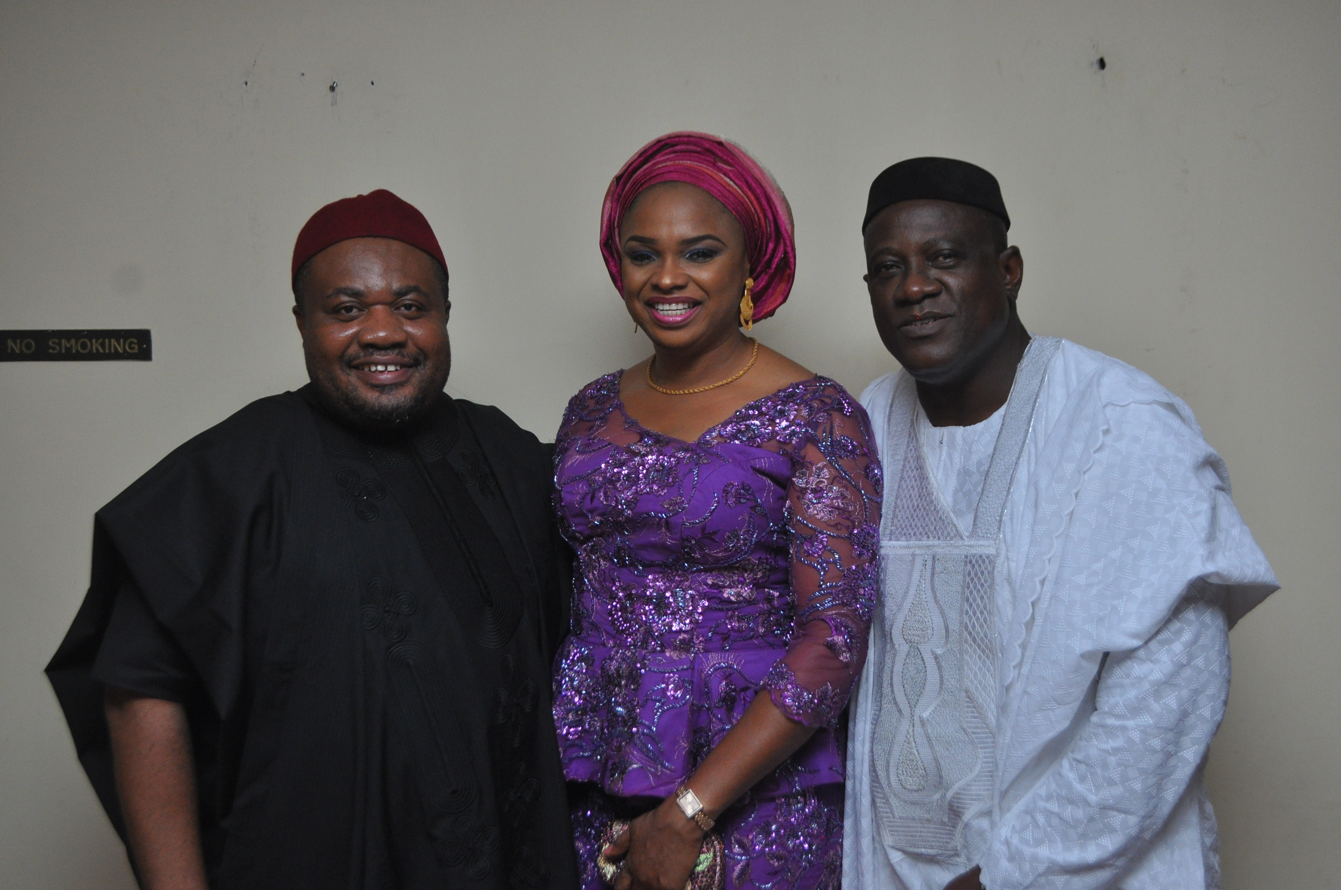L-R Mr. Anthony Nwaochei, Major Osamgbi and her husband Mr. Isichie Osamgbi