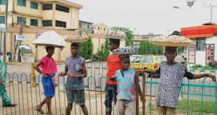 Children who are meant to be in school are seen hawking goods like gala 201e8eb94
